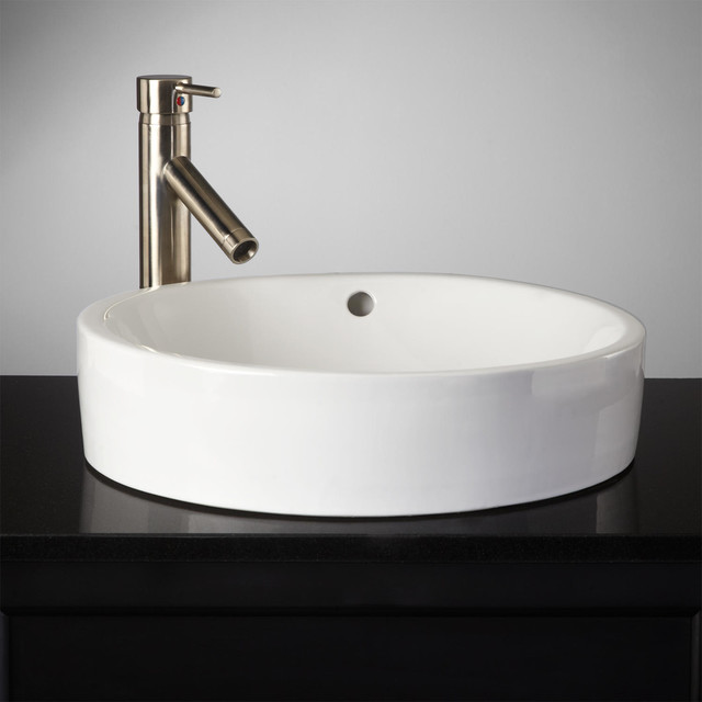 Recessed Bathroom Sink : Kinser Semi-Recessed Sink - Traditional - Bathroom Sinks