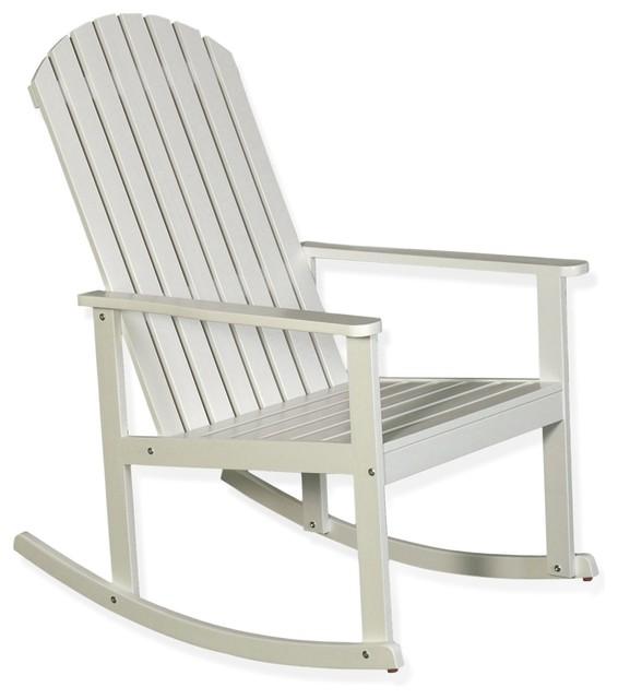 bergonce rocking chair en acacia lasur blanc campagne rocking chair de jardin par alin a. Black Bedroom Furniture Sets. Home Design Ideas