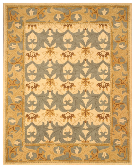 9x9 Bedroom: T110IV Ivory Hand Tufted Wool Kent Rug, 7'9x9'9