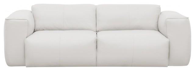 2 sitzer sofa hudson semianilin leder wei modern. Black Bedroom Furniture Sets. Home Design Ideas