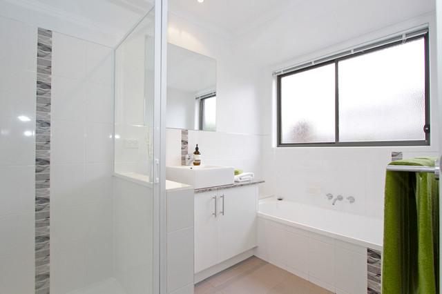 Dadu st kingston contemporary bathroom hobart by for Bathroom designs hobart