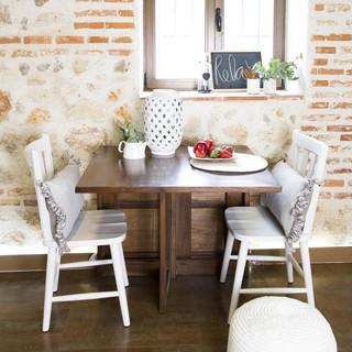 Tan mesa plegable r stico mesas de comedor de banak - Banak importa recibidores ...