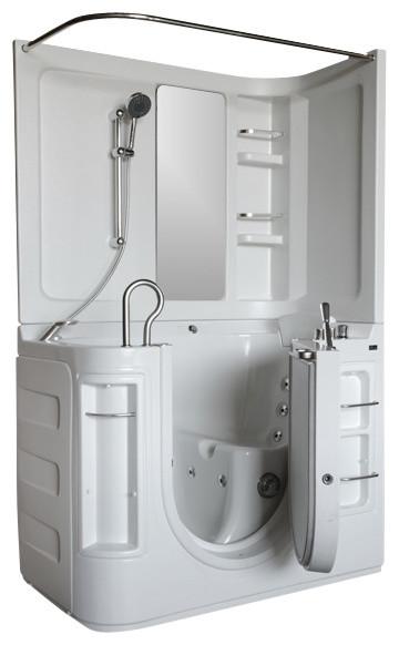 51 X29 Walk In Ada Compliant Bathtub Left Air Massage System C