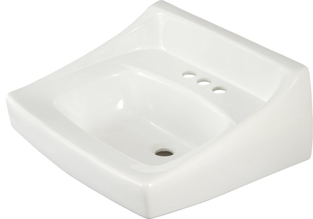 Toto LT307.4 Cotton White Commercial Wall-Mount Lavatory - Modern ...