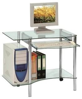 Desktop Bureau Pour Ordinateur En Verre Contemporain