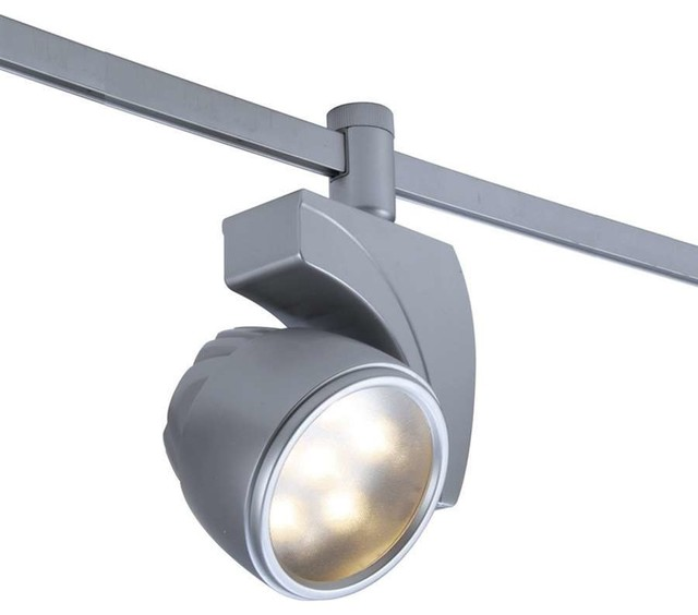 WAC Lighting LEDme Flexrail1 18W Cool White Flood Platinum Modern Track