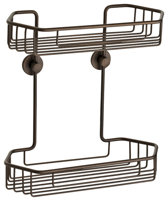 No Drilling Required Shower Caddy Oil Rub Bronze Rustproof Contemporary Shower Caddies