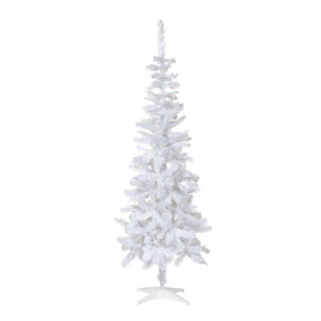 6ft white slim christmas tree contemporary christmas for B q christmas decorations