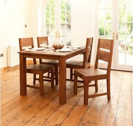 good grace solid wood dining set of 4 chair and table dining sets