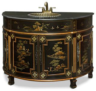 chinoiserie victorian vanity asian bathroom vanities and sink
