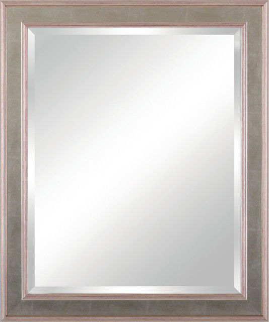 Vanity Beveled Mirror Transitional Bathroom Mirrors By Art Effects Inc