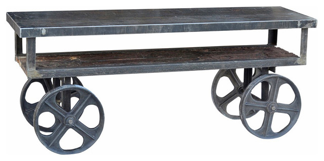 Industrial Trolley Cart Plasma Stand - Industrial - Entertainment Centers And Tv Stands - by ...
