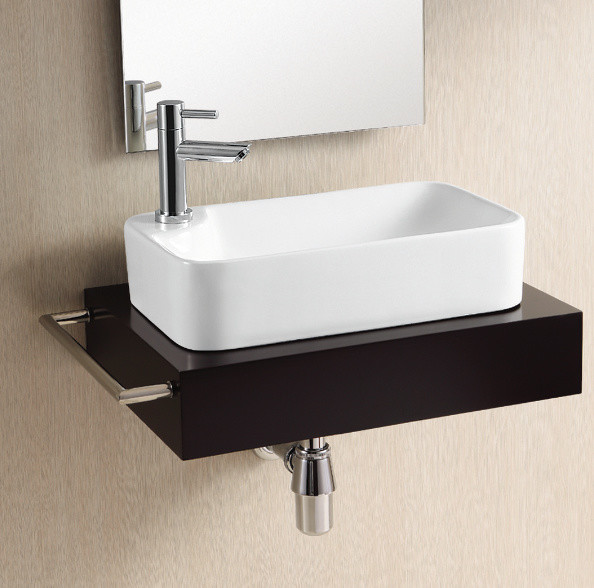 modern rectangular vessel sink by caracalla modern bathroom sinks