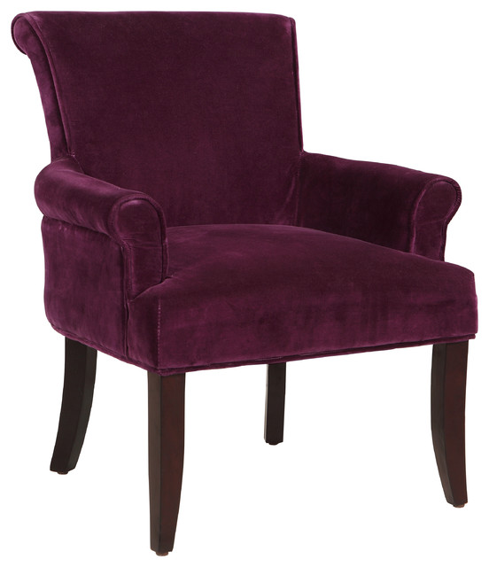Calla Chair Dark Purple Transitional Armchairs And