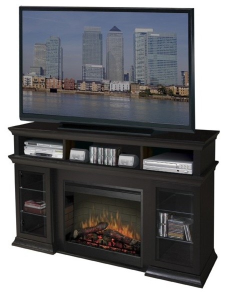 Dimplex Bennett Electric Fireplace Media Console Contemporary Indoor Fireplaces Portland