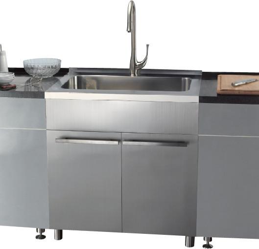 dawn ssc3636 36 inch stainless steel sink cabinet modern