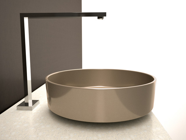 Champagne Luxury Wash Basin Above Counter Vessel Sink