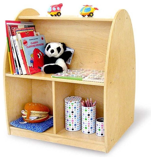 Toddler Arch Rolling Storage Shelf Contemporary Toy