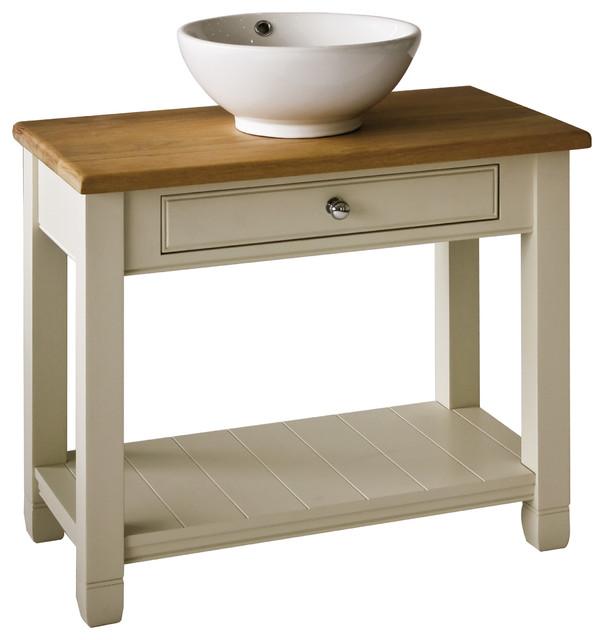 Chichester 850mm Oak Countertop Washstand