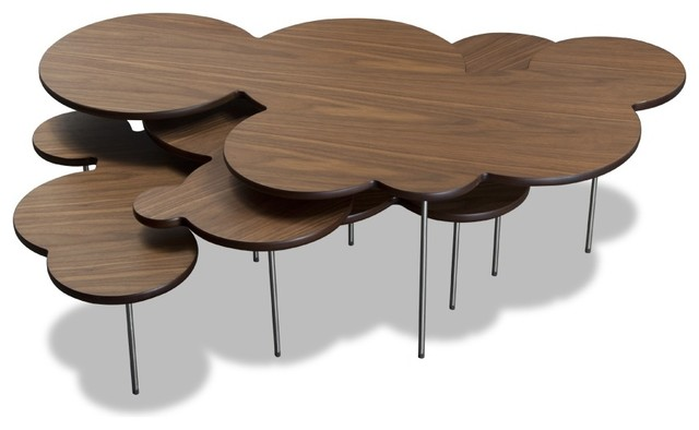 Couchtisch Set Clouds Walnuss  Contemporary  Side Tables