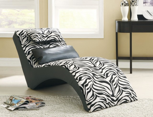 Zebra Chaise Modern Indoor Chaise Lounge Chairs Los