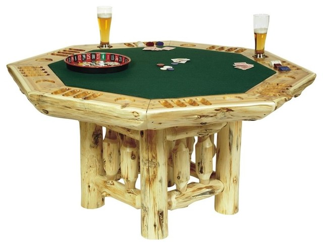 Cedar Log Poker Table In Lacquer Finish Tita Contemporary Side Tables End Tables By