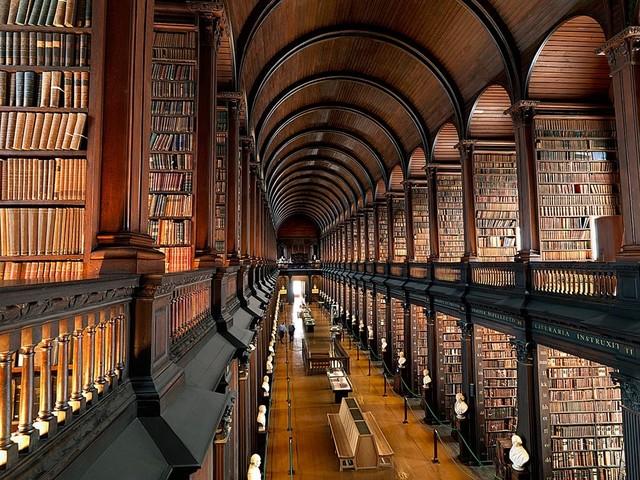 Dublin Library Wallpaper Wall Mural