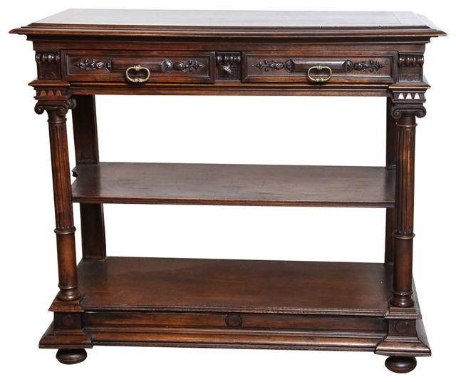 french antique henri ii style walnut server modern console tables miami by the highboy. Black Bedroom Furniture Sets. Home Design Ideas