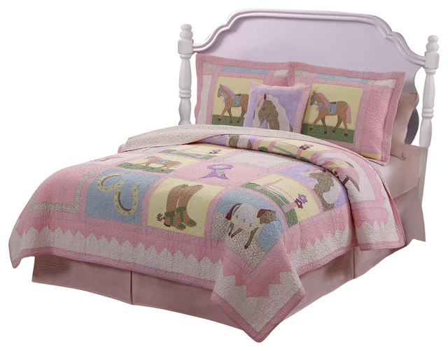 Giddy up full queen quilt with 2 shams contemporain - Linge de lit contemporain ...