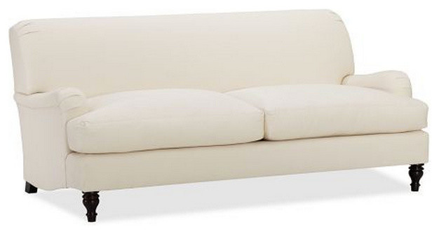 upholstered apartment sofa traditional sofas by pottery barn