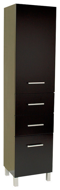 Fresca Espresso Bathroom Linen Cabinet w/3 Pull-Out Drawers - Modern - Bathroom Cabinets And ...