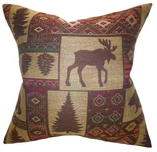 Faunia Neutral 18 x 18 Animal Print Throw Pillow - Modern - Bed Pillows - by Bellacor