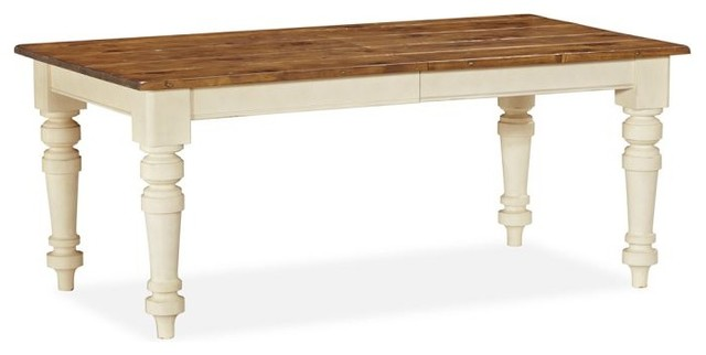 Extending Dining Table French White Farmhouse Dining Tables