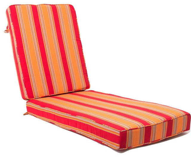 Extra Long Replacement Chaise Lounge Cushion With Piping