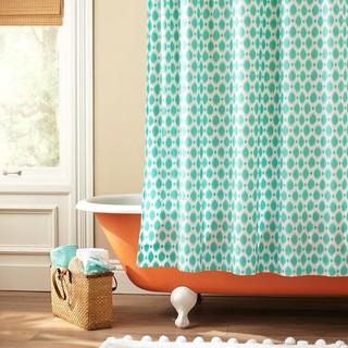 Ikat Dot Organic Shower Curtain Eclectic Shower