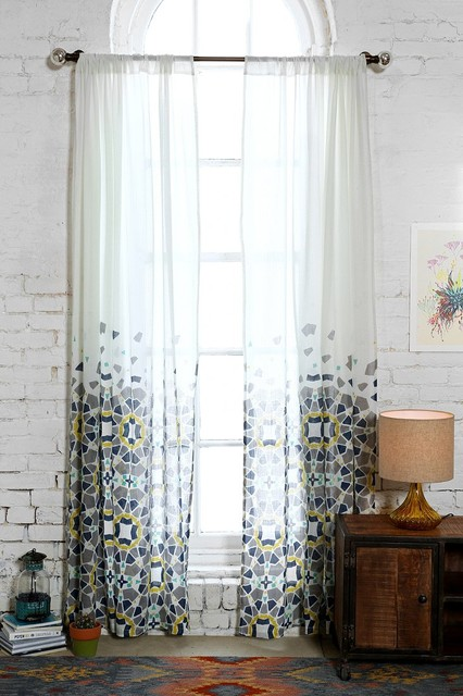 Magical Thinking Moroccan Tile Curtain Blue