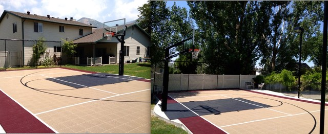 Backyard Multi Sport Outdoor Game Court Traditional