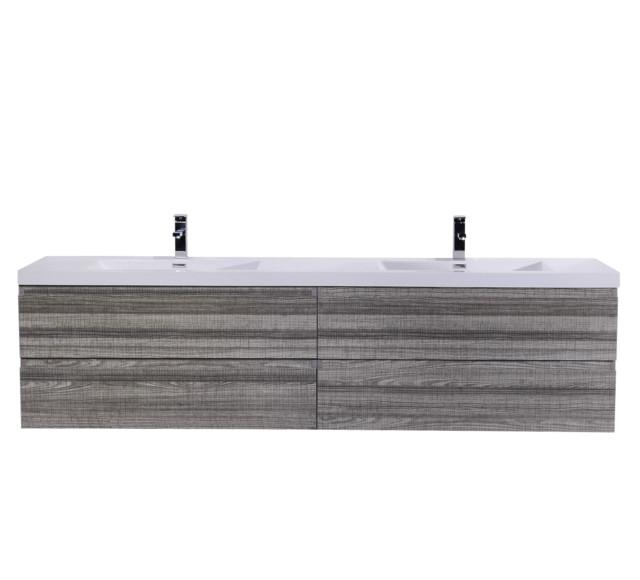 Moreno Wall Mounted Bathroom Vanity Ash Gray  Modern Bathroom