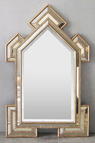 art deco cathedral mirror moderne miroir mural par. Black Bedroom Furniture Sets. Home Design Ideas