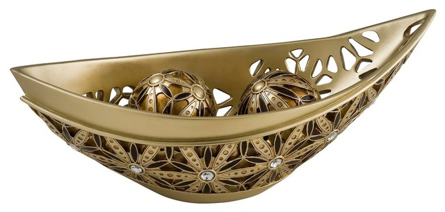 Autumn sunflower decorative bowl with spheres