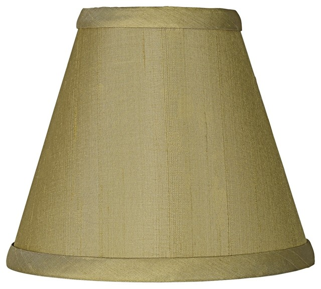 green dupioni silk lamp shade 3x6x5 clip on traditional lamp shades. Black Bedroom Furniture Sets. Home Design Ideas