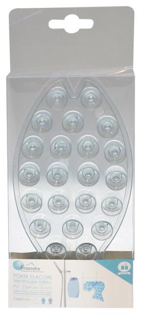 Porte flacon ventouse poisson transparent moderne porte savon par homy - Poisson a ventouse ...