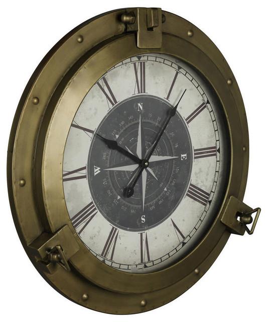 Cooper Classics Celestyn 22 Round Wall Clock Bronze