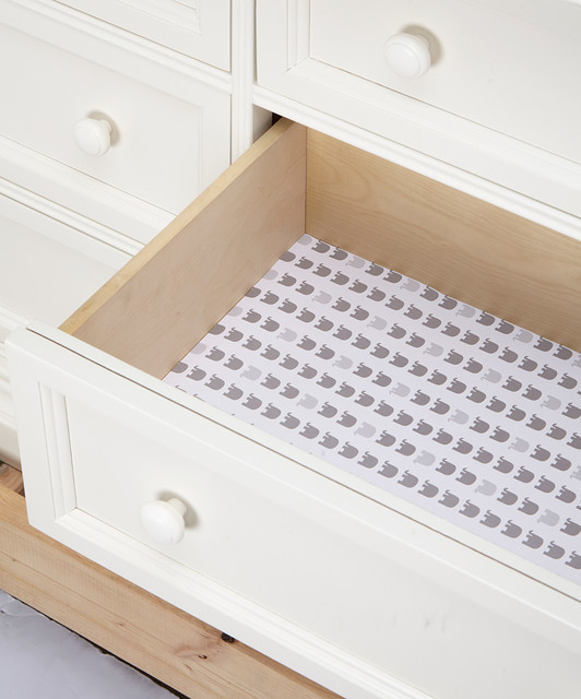 Elephant Gray Drawer Liner - Set of Six - Modern - Drawer & Shelf Liners