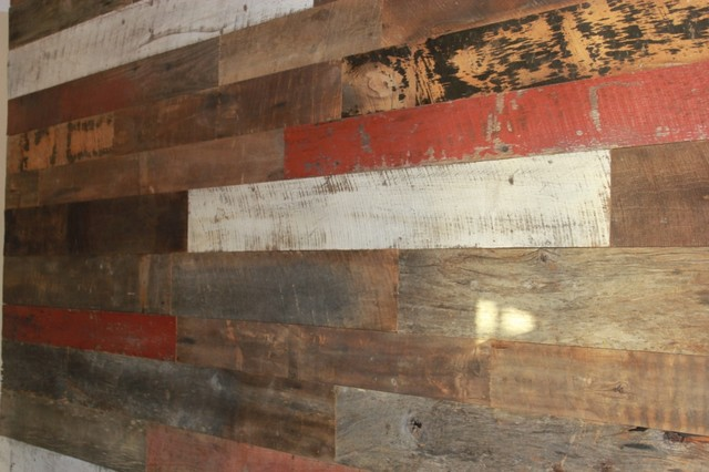 Reclaimed Barn Wood Feature Wall Texas Residence October 2013 Rustic Dallas By Urban