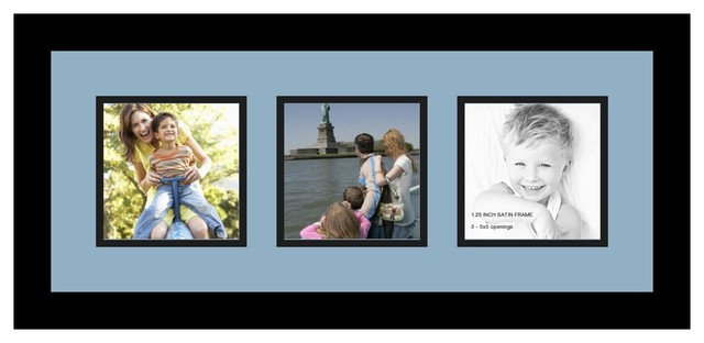 Arttoframes collage photo frame with 3 5x5 openings for Modern collage frame