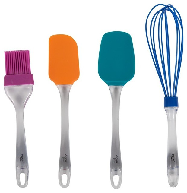 everyday silicone 4 piece utensil set modern cooking