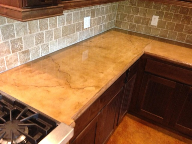 Concrete Countertop Color Options : Colored and Stained Concrete Countertop - Rustic - Houston - by ...