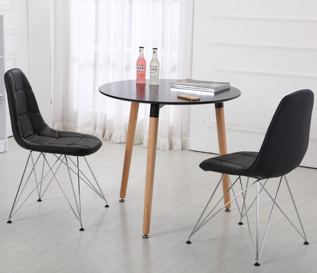 monte carlo dining chair black modern dining chairs