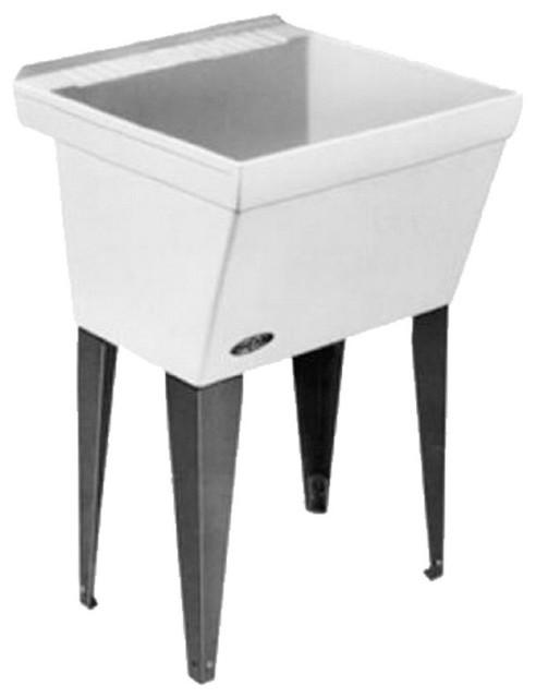 "Utilatub Laundry Sink, White, 23"" - Transitional - Utility Sinks - by Bath1"